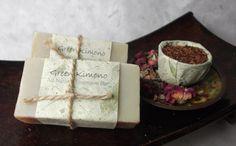 Rooibos tea Hibiscus and Roses Natural Shampoo Bar by GreenKimono, $6.50