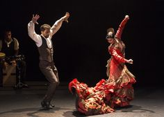 BNE. Zaguán. Eduardo Martínez y Mónica Iglesias en cantiñas de Córdoba. foto de Javier Fergo para Flamenco on fire 2015. Costume design Yaiza Pinillos