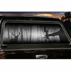 Early Fly Down Window Tint Cars - Rear window hunting decals for trucks