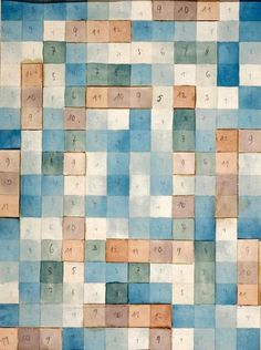 Gertrud Arndt, Entwurf für Teppich 2, Design for Carpet 2, the model was later in the office of Gropius in Weimar