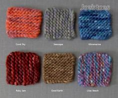 First swatches of our new slipper yarn - suits our adult size soles.