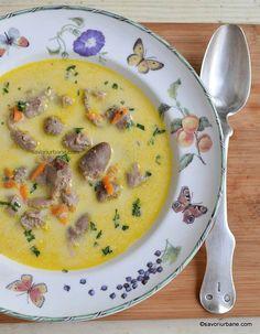 Ciorbă de pipote și inimi cu smântână și usturoi | Savori Urbane Cheeseburger Chowder, Soup, Soups