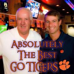 The past...Danny Ford...and the present & future...Dabo Swinney! Go Clemson!!!
