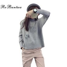 Rebantwa Warm Knitted Sweater Women Winter Turtleneck Causal Christmas Sweaters Fashion Loose Solid Color Sweaters and Pullover //Price: $US $17.93 & Up to 18% Cashback on Orders. //     #fashion