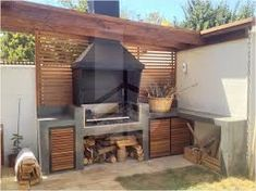 Resultado de imagen para quinchos modernos cerrados Barbacoa, Patio, Ideas Para, Outdoor Decor, Home Decor, Play Areas, Plants, Houses, Fire Places