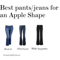 """Best pants/jeans for an Apple Shape"" by go-2-girl on Polyvore"