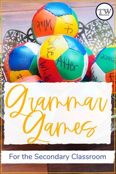 Grammar Games for the Secondary Classroom — TeachWriting.org