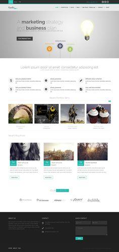 Kanki – Multi & One Page Parallax WordPress Theme
