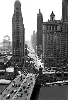 Downtown Skyline Michigan Avenue Art Print by Vintage Images. All prints are professionally printed, packaged, and shipped within 3 - 4 business days. Choose from multiple sizes and hundreds of frame and mat options. Chicago Pictures, Usa Pictures, Chicago Illinois, Chicago University, My Kind Of Town, Thing 1, City Photography, City Streets, Vintage Images