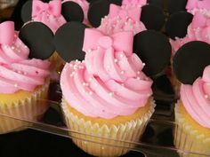 Cute Pink Mini Mouse Cupcakes