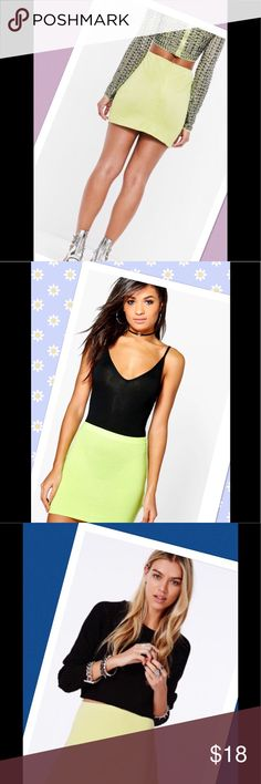 "🌹Exquisite pistachio mini skirt🌹 Beautiful chic lovely wrinkle free mini skirts.  NWOT.  Zipper on the side.  Waist to bottom 14"" seam to seam 14"".  Bundel with one of my top and save.  Model pic is to offer ideas.  ❣️I am open to all offers BUNDLE & send me your offer🌹 Express Skirts Mini"
