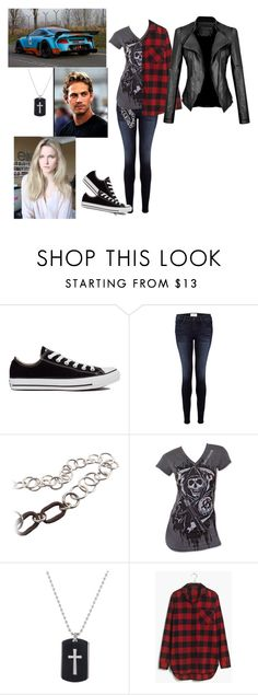 """""""Fast and furious oc- Kayla O'Conner"""" by fashions-for-fandoms ❤ liked on Polyvore featuring Converse, Frame Denim, Madewell and FastAndFurious"""