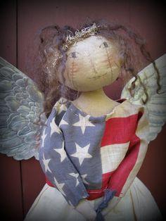 ooak GLORY Angel Finished Piece by cheswickcompany Cheswick Company - folk art primitive angel