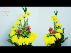 Cómo Hacer El Crisantemo Amarillo Flor De Dragón Arreglar