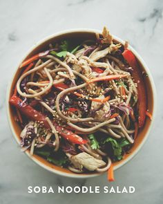 SOBA NOODLE SALAD // The Kitchy Kitchen Good thing to make for work lunches