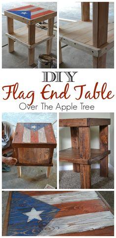 DIY Flag Table, Puerto Rico flag design >> Over The Apple Tree
