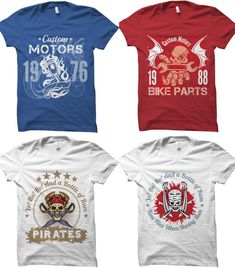 Best T shirt design vector reviews in 2019 [Fully update] - maabdullah.us T Shirt Design Vector, Logo Design, Design Typography, Skull Motorcycle, Vintage T-shirts, Design Vintage, T Shirt Factory, Best T Shirt Designs, Shirt Template