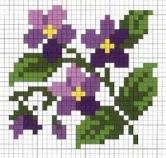 Violet cross stitch pattern