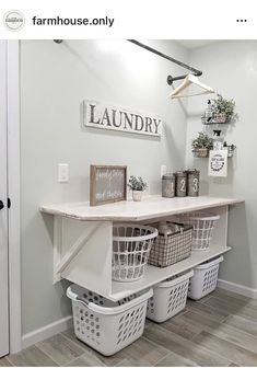 farmhouse laundry room is usually the most messiest room at your home. Admit it, farmhouse laundry room is usually the most messiest room at your home. 86 Brilliant Laundry Room Ideas for Small Spaces Laundry Room Drying Rack, Laundry Room Organization, Laundry Room Design, Organization Ideas, Laundry Basket Storage, Laundry Room Colors, Ikea Utility Room Storage, Laundry Room And Pantry, Organized Laundry Rooms