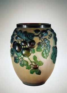 Émile Gallé, Vase with Apples, France, ca. 1918-1931.