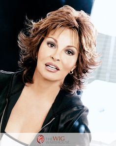 Flirty and fashionable, the Breeze wig by Raquel Welch is as light and cool as its name implies. Flipped ends frame the face with soft curves, and wispy bangs line the forehead in this medium length c