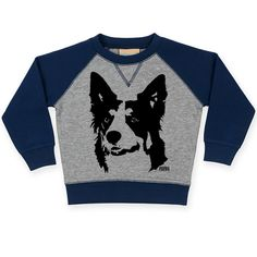 Border Collie Baby Sweatshirt, Custom Toddler Sweatshirt, Toddler Jumper, Personalized Baby Jumper, Gift For Baby Nephew, Toddler Niece Gift by MONOFACESoCHILDREN on Etsy Niece Gifts, Baby Jumper, Jumper Outfit, Baby Sweaters, Top Stitching, Unisex Baby, Baby Month By Month, Personalized Baby, Toddler Outfits