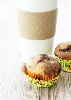 Skinny Peanut Butter, Chocolate and Banana Muffins by Foodtastic Mom..Uses Peanut Butter powder