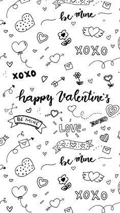 Valentines Doodles WALLPAPER 1 242x2 208