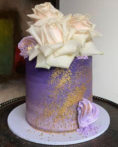 """@erinas_eats on Instagram: """"Another purple beauty. I'm really loving this upside down 'ombré' 💜"""" Cakes, Purple, Desserts, Beauty, Instagram, Food, Tailgate Desserts, Deserts, Cake Makers"""