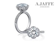 A. Jaffe Floral Engagement Ring available at Razny Jewelers