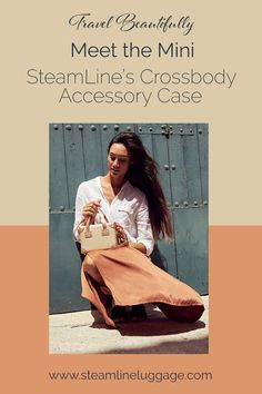 The SteamLine Mini Convertible Crossbody Purse | The Mini is SteamLine Luggage's first-ever accessory case designed for daily adventures. With the Mini, daily tasks are elevated to make a SteamLine statement with our beautifully designed crossbody purse. Protect your daily carry items & show off retro fashion vibes. Whether you use the Mini solo or with matching travel bags, this bag is sure to be your new BFF. | Purses and Handbags, Cute Purses | #vintageoutfits #retrofashion #cutebags Cute Purses, Cute Bags, Elegant Outfit, Aesthetic Clothes, Purses And Handbags, Travel Bags, Retro Fashion, Vintage Outfits, Mini