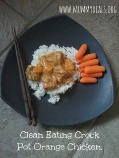Clean Eating Crock Pot Orange Chicken Recipe from @Clair O'Neill O'Neill @ Mummy Deals is perfect for nights when you want takeout but the budget won't allow it! #crockpot #slowcooker