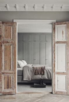 Create the worn away look on these door with the Amy Howard at Home Toscana Milk Paint!