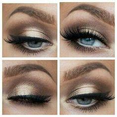 Makeup Golden. Bold lashes. Blue eyes. http://www.mybigdaycompany.com/weddings.html