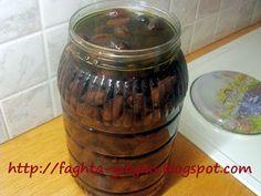 Ελιές ξυδάτες ψημένες στο αλάτι