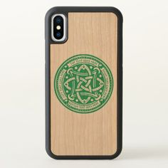 Create Your Own Celtic Knot Shamrock Green Irish iPhone X Case - saint patricks day st patricks holiday ireland irsih special party