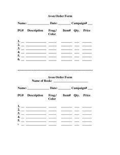 Avon Order Form[PRINT THIS] by avonladymellisa