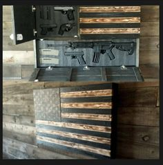 Exclusive - diy gun safe art - Yahoo Image Search Results Fight for your Second Amendment rights with our exclusive IPac T-shirt! Grab your FREE T-shirt below. Hidden Gun Storage, Weapon Storage, Secret Gun Storage, Hidden Gun Safe, Tool Storage, Into The Woods, Hidden Gun Cabinets, Woodworking Plans, Woodworking Projects