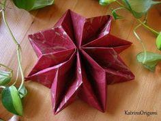 Origami ✱ Star ✱ ( Napkin ) - YouTube                                                                                                                                                                                 Mehr