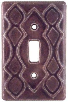 Moroccan - Honeybee Ceramics- Original Ceramic Art Light Switch Covers, Wall Clocks and Tiles by Beth Sherman