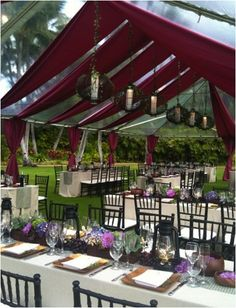 Tent draping...ooh la la!!! Clear top with probably 300 yards of fabric!