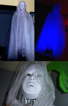 Step by step instructions to make this creepy apparition!