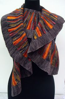 """Will's Wools Stephen West's """"Spectra"""" Pattern using Koigu KPPPM, made by Eva!"""