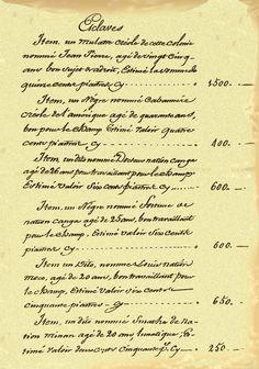 Laura Plantation - Slave Registry