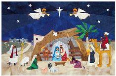 Christmas Paper Piecing Patterns Free | LASER CUT FUSIBLE APPLIQUES NATIVITY TRIO – Applique – Supplies