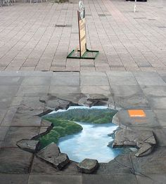 Checkout some really really tough Creative Art Illusions on Road where and many artists have drawn pics on roads used as a canvas.