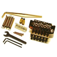 Ant Hill Music Licensed Floyd Rose Style Tremolo with Matching Hardware Gold