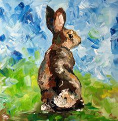 Eastern Cottontail rabbit original oil painting - art inspired by Ireland and Irish farming. Rabbit Farm, Duck And Ducklings, Farm Paintings, People Art, Freelance Illustrator, Painting Art, Art Projects, Irish, Ireland