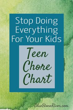 Stop doing everthing for your kids. Here is a teen chore chart to get you started. #chorechart #teenchorechart #delegating #overwhelmed #todolist #chores #choresforkids #stopdoingeverything #reducestress #momhacks #raisinggoodkids #raisingkids #stressedoutmom #momoverwhelmed #toomuchtodo #teenagerchores #teenagerchorechart