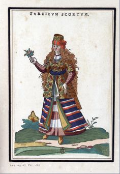 Turkish women-illustrations of 16th century Ottoman costume by Jost Amman and Abraham de Bruyn, 1577
